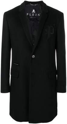 Philipp Plein logo embroidered coat