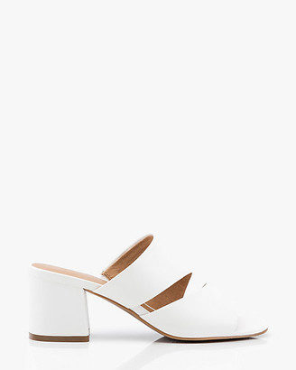 Le Château Flared Heel Two-Banded Slide