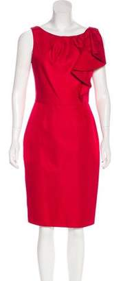 Lela Rose Silk A-Line Dress