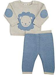 Barneys New York Infants' Lion Sweater & Pants Set - Blue