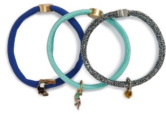 Marc Jacobs Set Of 3 Charm Ponytail Holders $35 thestylecure.com