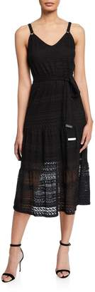 MICHAEL Michael Kors Lace Ring-Strap Midi Dress