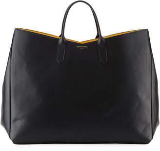 Sara Battaglia Vertical Leather Tote Bag