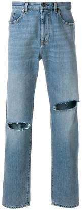 Saint Laurent slashed detail jeans