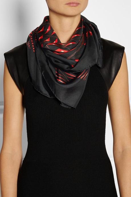 Etro Printed silk-twill scarf