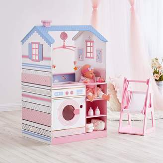 Olivia's Little World Olivia's Classic Unicorn Doll Changing Station Dollhouse-White/Pink/Gold Blue