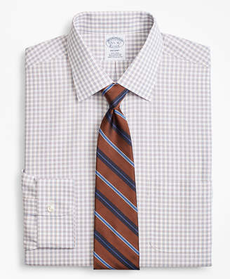 Brooks Brothers Regent Fitted Dress Shirt, Non-Iron Framed Windowpane