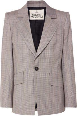 Vivienne Westwood Puppytooth Wool Blazer - Gray
