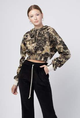 Twenty Mount Royal Jacquard Cropped Hoodie