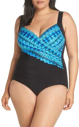 Miraclesuit R) Cabana Chic Sanibel One-Piece Swimsuit