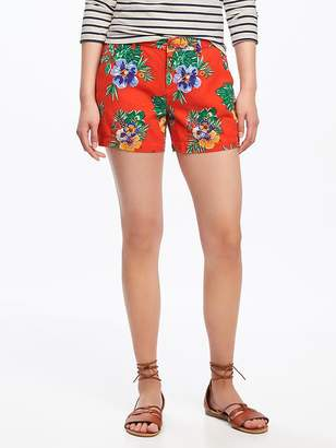 "Mid-Rise Printed Linen-Blend Shorts for Women (3 1/2"") $24.94 thestylecure.com"