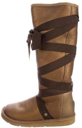 UGG Australia Metallic Rina Boots $145 thestylecure.com