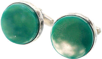 One Kings Lane Vintage Jade & Sterling Cuff Links