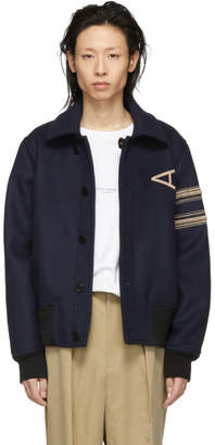 Acne Studios Navy Wool Ollys Bru Jacket