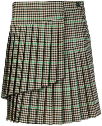 P.A.R.O.S.H. checked mini skirt