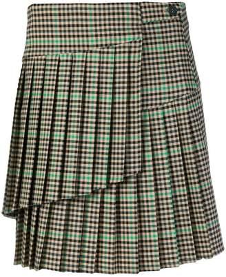 P.A.R.O.S.H. checked mini skirt