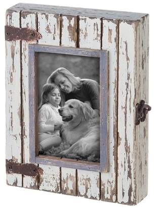 Foreside Home & Garden 4x6 Rustic Wood Box Photo Frame
