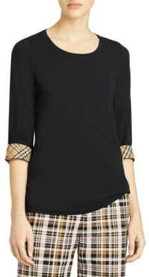 Burberry Check Cuff T-Shirt