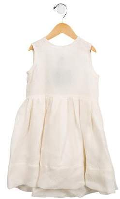 Lanvin Petite Girls' Belted Silk Dress w/ Tags