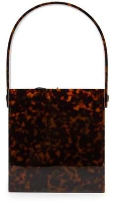 Montunas - Stelis Tortoiseshell Acetate Box Bag - Womens - Green Multi