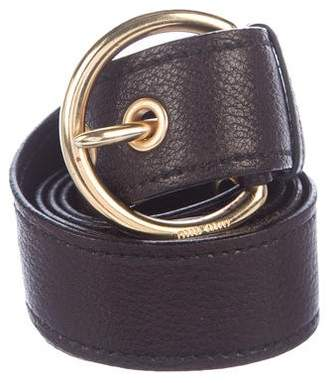Miu Miu Pebbled Leather Waist Belt