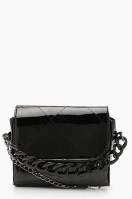 boohoo Metallic Chunky Chain Clutch Bag