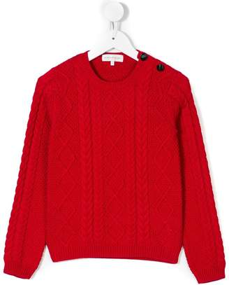 Les Coyotes De Paris aran knit sweater