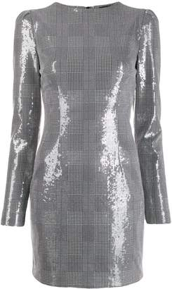 Frankie Morello metallic check print dress