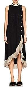Mayle Maison MAISON WOMEN'S FLORAL SILK JACQUARD DRESS - BLACK SIZE 2