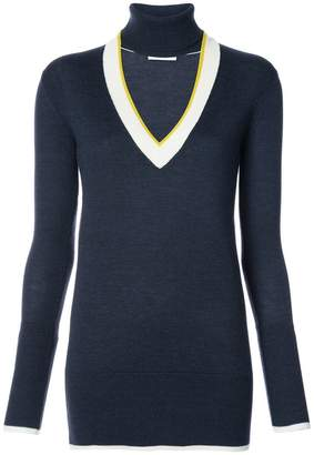 Tome open V neck knitted top