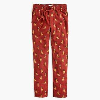 J.Crew Flannel pajama pant in dog print
