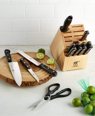 Zwilling J.A. Henckels Zwilling Knife Block Set, Created for Macy's, 15 Piece Twin Gourmet