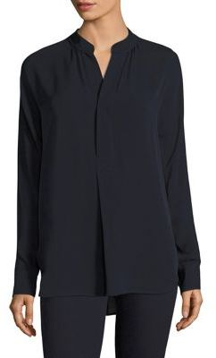 Polo Ralph Lauren Silk Georgette Shirt $198 thestylecure.com