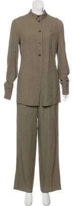 Giorgio Armani Textured Wide-Leg Pantsuit