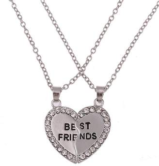 StylesILove BFF Best Friends Forever Collection Love Heart Charm Pendant Girl's (3 Best Friends)