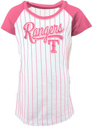5th & Ocean Texas Rangers Pinstripe T-Shirt, Girls (4-16)