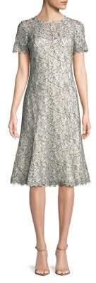 Eliza J Floral Lace Knee-Length Dress