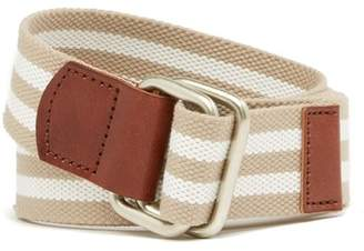 Nordstrom Striped Metal D-Ring Belt