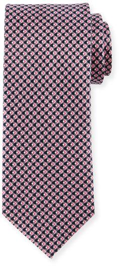 BrioniBrioni Diamond-Print Silk Tie
