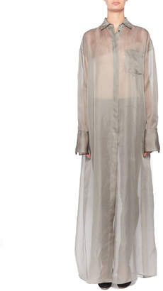 The Row Siena Semisheer Chiffon Shirtdress
