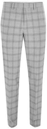 Topman Check Suit Trousers