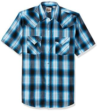 Ely & Walker Men's Short Sleeve Plaid Western Shirt