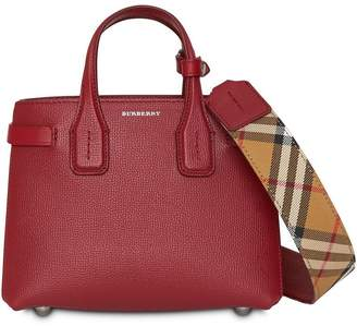 Burberry The Baby Banner in Leather and Vintage Check a405d51f8668e