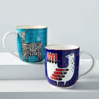 west elm Hand-Painted Animal Mugs