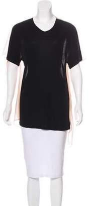 3.1 Phillip Lim Semi-Sheer Short Sleeve Top Black Semi-Sheer Short Sleeve Top