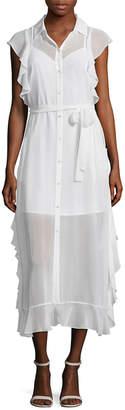 Marissa Webb Ruffle Silk Dress