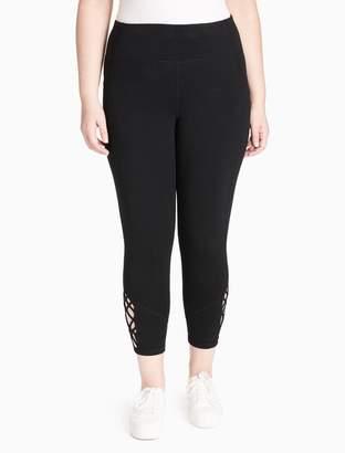 Calvin Klein plus size high waist lattice leggings
