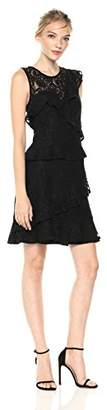 Adelyn Rae Women's Colleen Woven Lace Ruffle Dress
