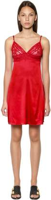 Stella McCartney Lottie Lusting Silk Satin & Lace Chemise