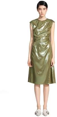 Sies Marjan Edie Laminated Short Sleeve Wrap Dress